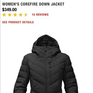 b08254a46 Women's Size Small NorthFace Down Jacket-Corefire